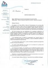 courrier du 1er vice president de la province sud0001