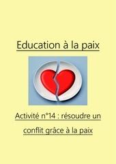 activite n14 resoudre un conflit grace a la paix