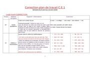 correction plan de travail ce1 semaine du 6 avril 2020