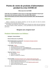 points alimentation producteurs covid 1902042020