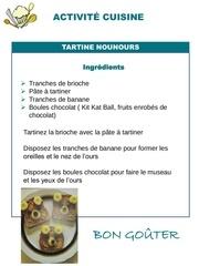 4 activite cuisine tartine nounours