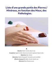 liste pierres et mineraux patologie
