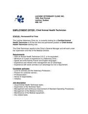 chief technicianlachinevcapril 13th 2020
