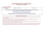correction plan de travail ce2 semaine du 13 avril 2020