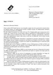 courrier ars covid 10 042020