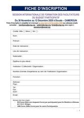 fiche dinscription bp douala  2020