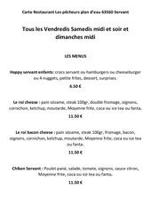 menu a imprimer