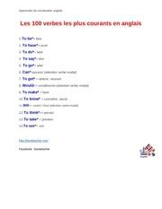 Les 100 Verbes Les Plus Courants 3 Par Asus Fichier Pdf