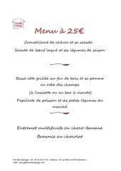 menu 25 2020