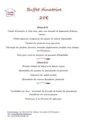menu buffet 25 2020