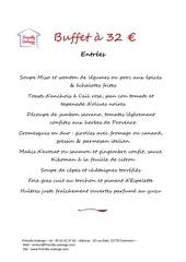 menu buffet 32 2020