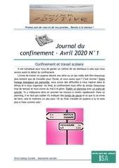 journal du confinement 1