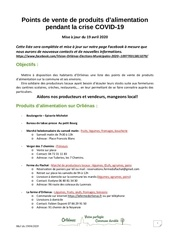 points alimentation producteurs covid 19190420