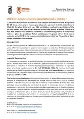 communique ujm recherche covid 30 03 2020