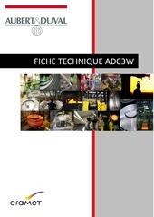 fiche technique adc3w