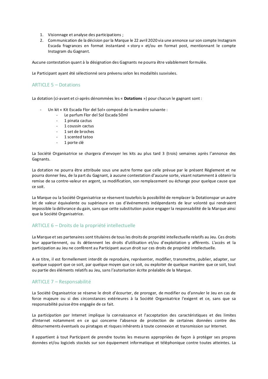 Aperçu du document Règlement Pinata Day Contest ESCADA.pdf - page 2/3