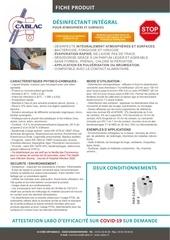 cablac fp desinfectant coronavirus vf