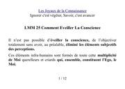 lmm 25 comment eveiller la conscience ieouams