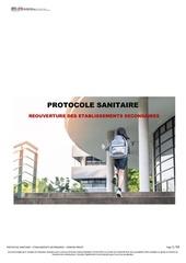 protocole sanitaire pour la reouverture etablissements secondair