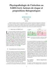 physiopathologie du covid19facteurs de risque et propositions th