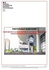 protocole sanitaire pour la reouverture des ecoles maternelles e