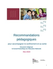 recommandations pedagogiques csen