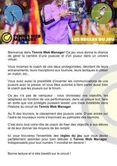 regles officielles tennis web manager