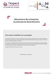 reouverture des entreprises et protocole de deconfinement   11 m