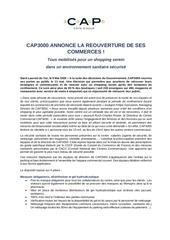 cp reouverture cap 3000 vef