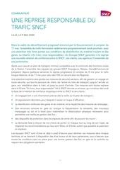 sncf   communique une reprise responsable du trafic sncf