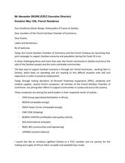 fzcc executive directors speech