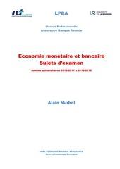 economie bancaire et monetaire sujets dexamen 2011 2019