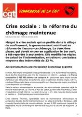 la cgt crise sociale   la reforme du chomage maintenue