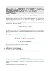 soulager les affections cutanees type rougeole rubeole scarlatin