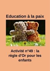 activite n49 la regle dor pour les enfants
