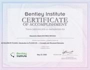 certificate plaxis institue  ingenieur mvondo mvogo