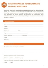 formulaire candidature adoption spa 1