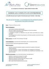 la gestion des conflits   presentation