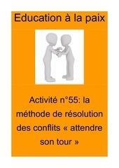 activite n55 methode de resolution de conflit attendre son tour