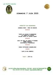 menu fetes des meres 2020