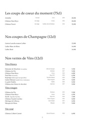 carte des vins octobre 2019 2