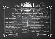 menu flyer la grotte