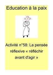 activite n 58 la pensee reflexive reflechir avant dagir