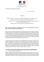 200602   strategie penitentiaire   deuxieme phase du deconfineme