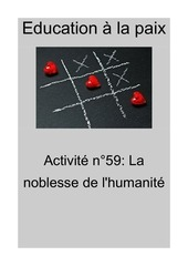 activite n59 la noblesse de lhumanite