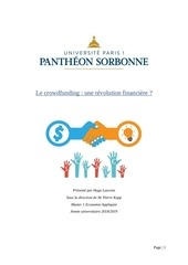 le crowdfunding une revolution financiere