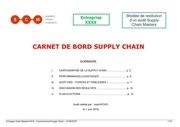 carnet de bord supply chain xxx
