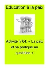 activite n64 la paix et sa pratique au quotidien