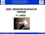 diaporama degradation par corrosion