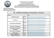 m1  installations energetiques et turbomachines  semestre 2